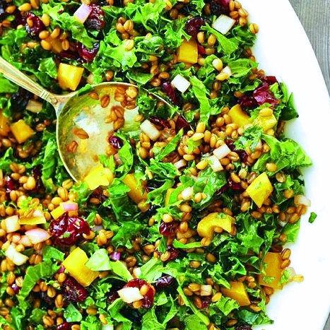 Kale Mango and Lentil Summer Salad