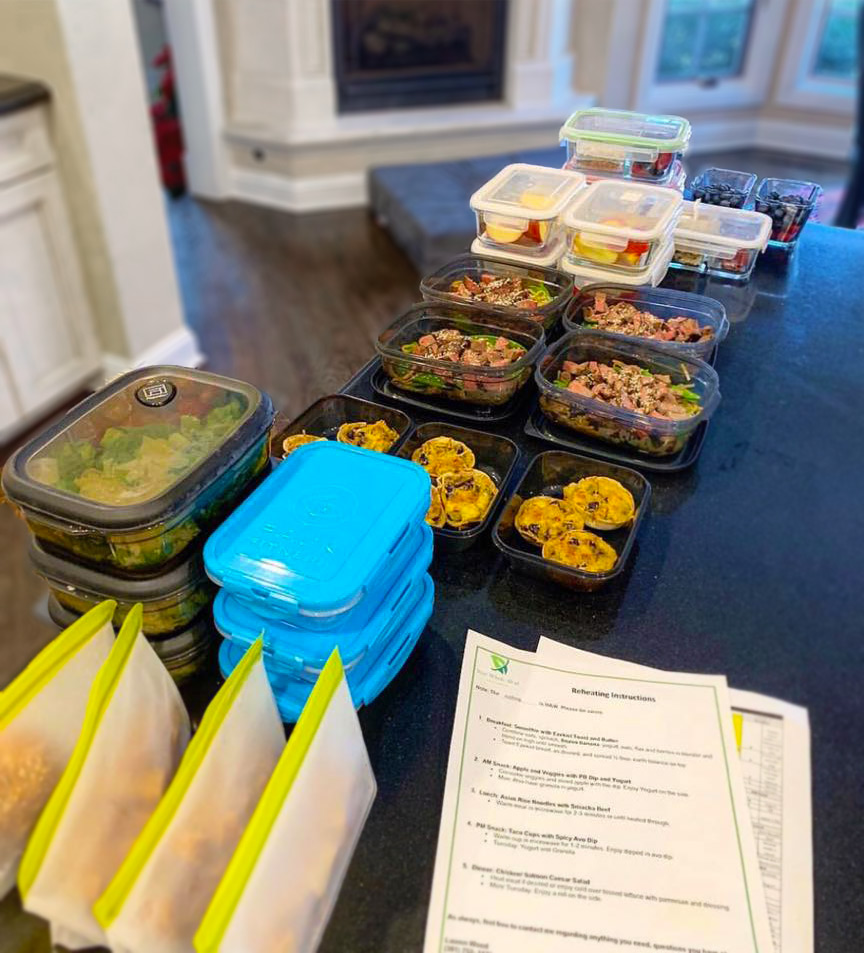 prepared meals on counter